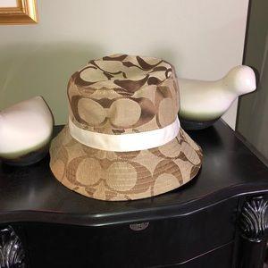AUTHENTIC COACH BROWN C-LOGO BUCKET HAT M/L